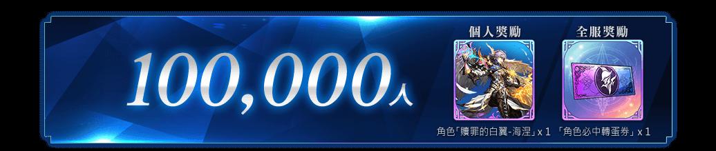突破 100,000 人!